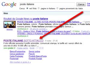 "Google con chiave ""poste italiane"""