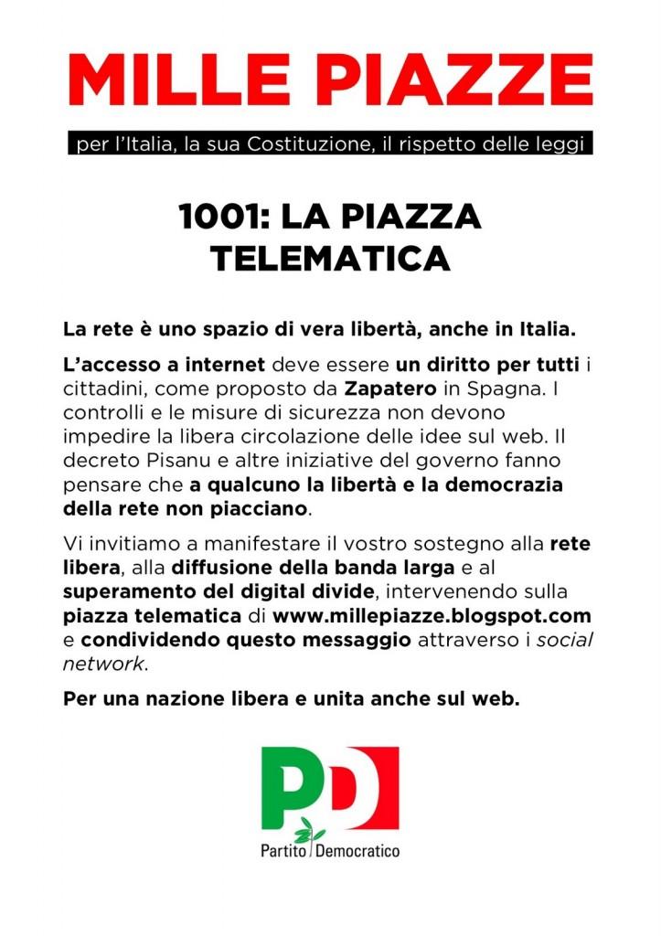 1001: la piazza telematica