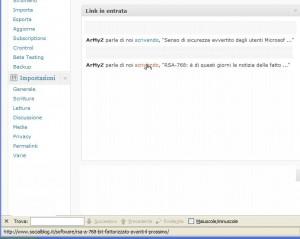 La mia bacheca WordPress