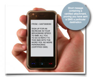 SMS certificato