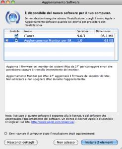 """Nuovo aggiornamento specifico per iMac 27"""""""