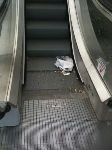 Le scale mobili accesso parcheggio Nord