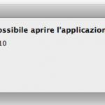 [MacOsX] Impossibile aprire l'applicazione Finder.app -10810