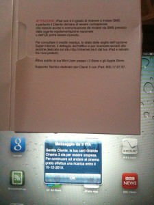 messaggi da 3 su iPad