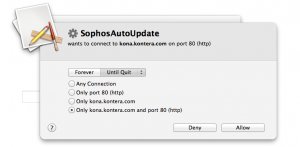 how come sophosautoupdate for mac calls konera.com?