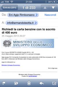 Phishing Eni e Sviluppo Economico