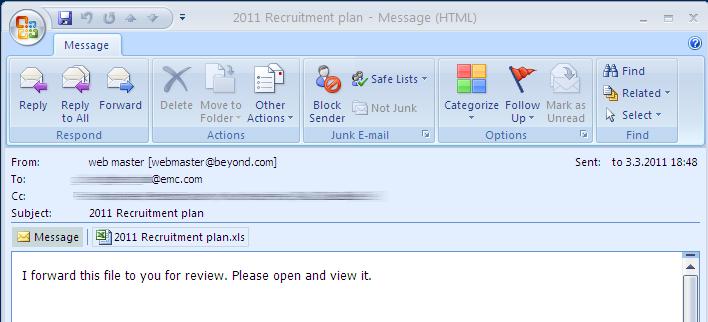 2011 recruitment plan